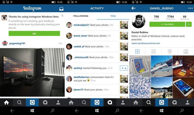 La nuova versione di Instagram (beta) per Windows 10 Mobile disponibile al download! http://www.sapereweb.it/la-nuova-versione-di-instagram-beta-per-windows-10-mobile-disponibile-al-download/        Instagram, dopo aver abbandonato per anni la propria app ufficiale per Windows Phone, ha provveduto a rilasciare in queste ore la nuova versione rinnovata progettata per Windows 10 Mobile.  Si tratta di una versione di Instagram completamente rinnovata arrivata su Windows 10 Mob