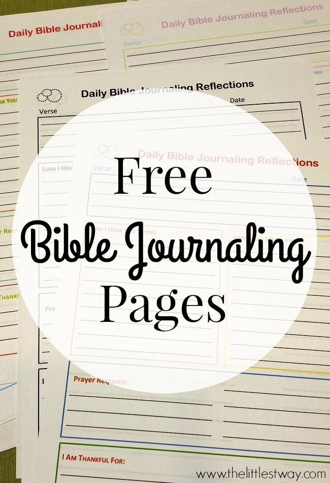 4 free Bible journaling printable worksheets: Daily Reflection, Topical Study, Characteristics of God and Jesus, and Notes and Doodles pages