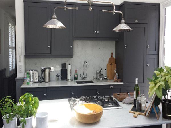 Shaker Style, Hacker Kitchen In Matte Grey With A Quartz Work Top. BPM  Kitchens
