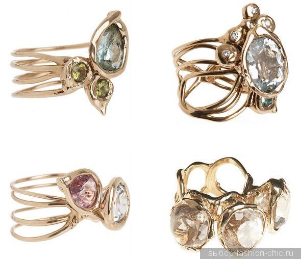 Кольца из розового золота с топазами от Lucifer Vir Honestus