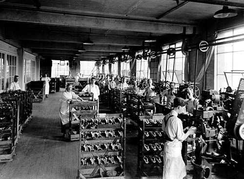 Lasting Department, Lotus Shoe Factory, Stafford