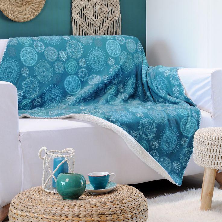 Plaid doux (150 cm) Dimpala Bleu : choisissez parmi tous nos produits Plaid cocooning