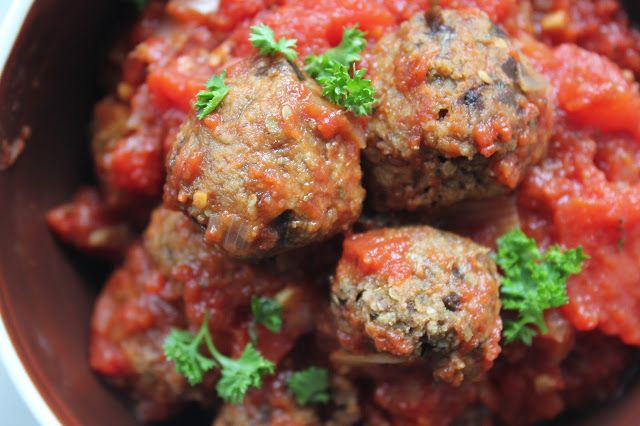 Vegetarische aubergineballetjes