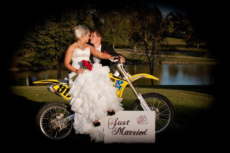Dirt bike wedding picture