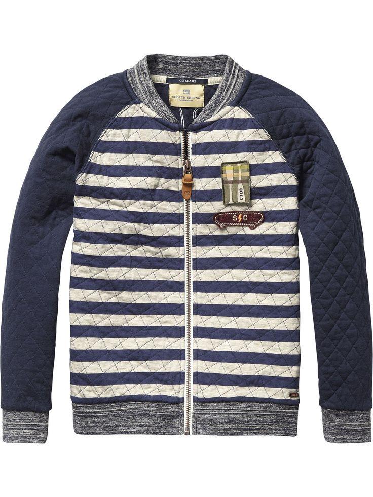 Quilted Varsity Jacket | Inbetween jackets | Boys Clothing at Scotch u0026 Soda | Niu00f1os FW16 ...