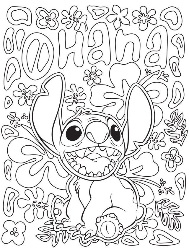 Angel And Stitch Coloring Page Angel Coloring Pages Stitch Coloring Pages Geometric Drawing