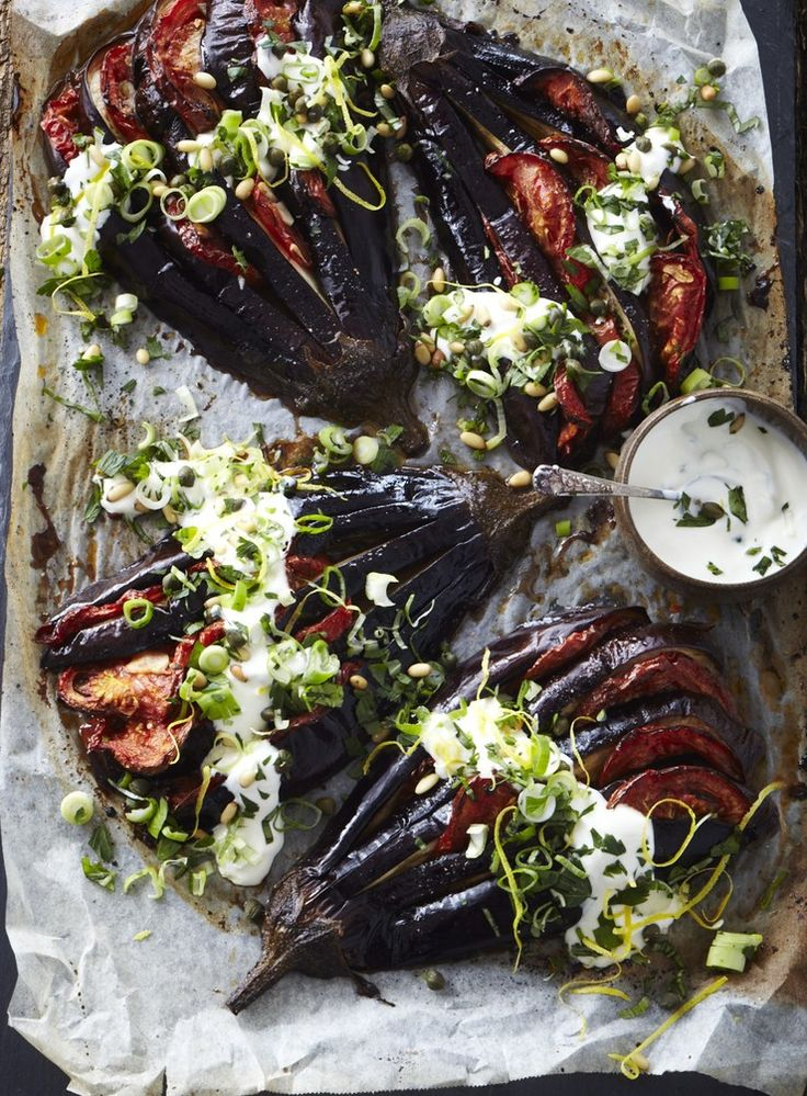 Eggplant loves gutsy flavours but does need to be really well cooked so it develops a rich, luscious texture – under-cooked eggplant is very unpleasant to eat.