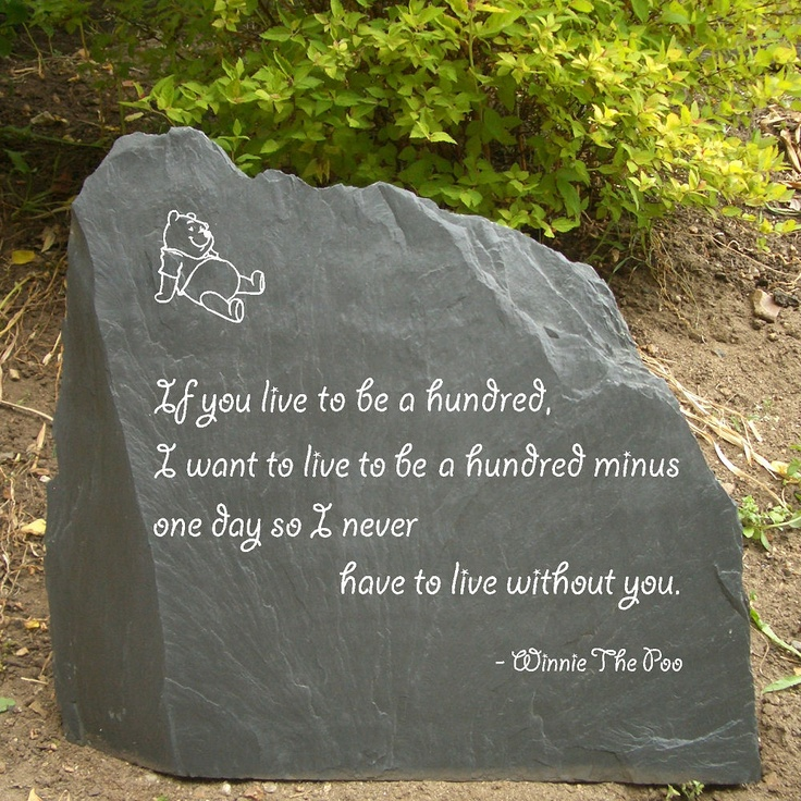 Garden slate stone with winnie the pooh quote i would for Garden stones with sayings
