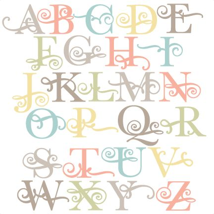 Daily Freebie 4-14-15: Miss Kate Cuttables--Flourish Uppercase Alphabet SVG scrapbook cut file cute clipart files for silhouette cricut pazzles free svgs free svg cuts cute cut files