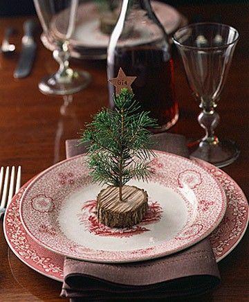 Apparecchiare la tavola con gli alberelli natalizi #christmasdecor