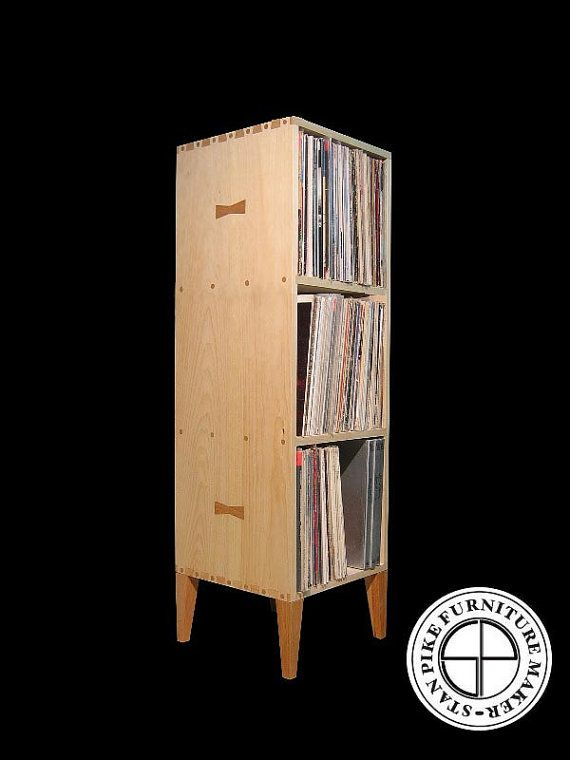 Vertical Vinyl Record Album Storage Cabinet by stanpike on Etsy, $399.00