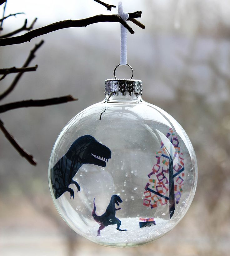 Glass T. Rex-Mas Holiday Ornament