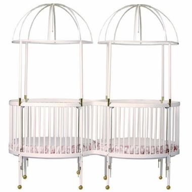 Little Miss Liberty Duetta Round Crib Mate Twin Round Crib
