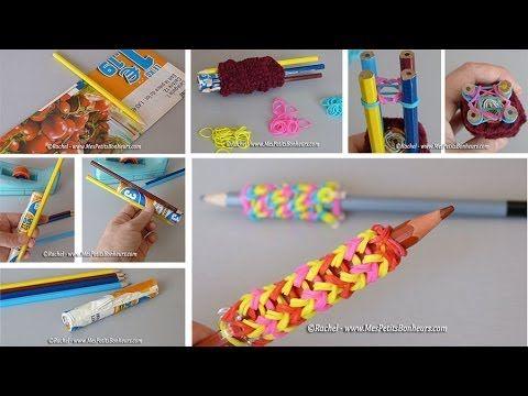 Les 55 meilleures images propos de loom sur pinterest chelle bracelets en lastiques et - Comment terminer un tricotin ...