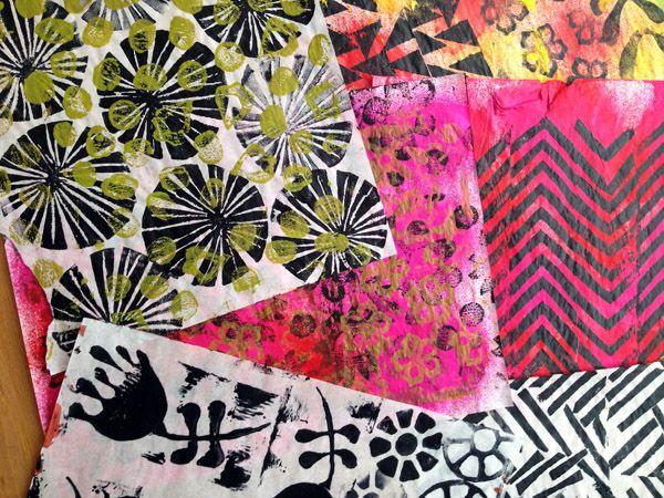 hand painted collage papers. using tracing paper http://journalartpages.blogspot.ca/2015/01/colored-papers-using-tracing-paper.html