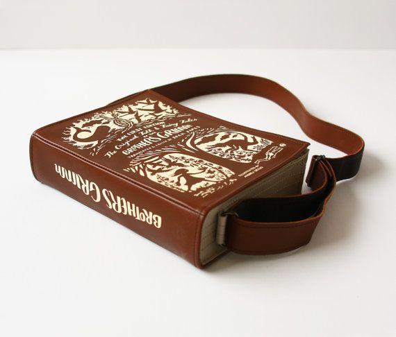 Grimm's Fairytale klassiekers lederen boek tas door krukrustudio