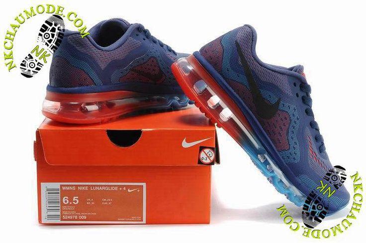 nike chaussure de running Air Max 2014 Femme Pourpre/Bleu/Orange