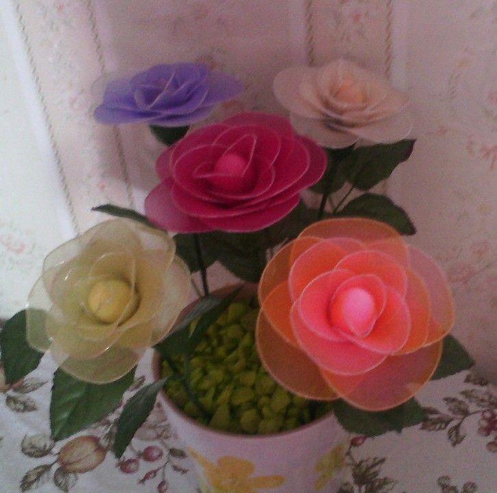 Harisnyavirág rózsa-nylon flower rosa