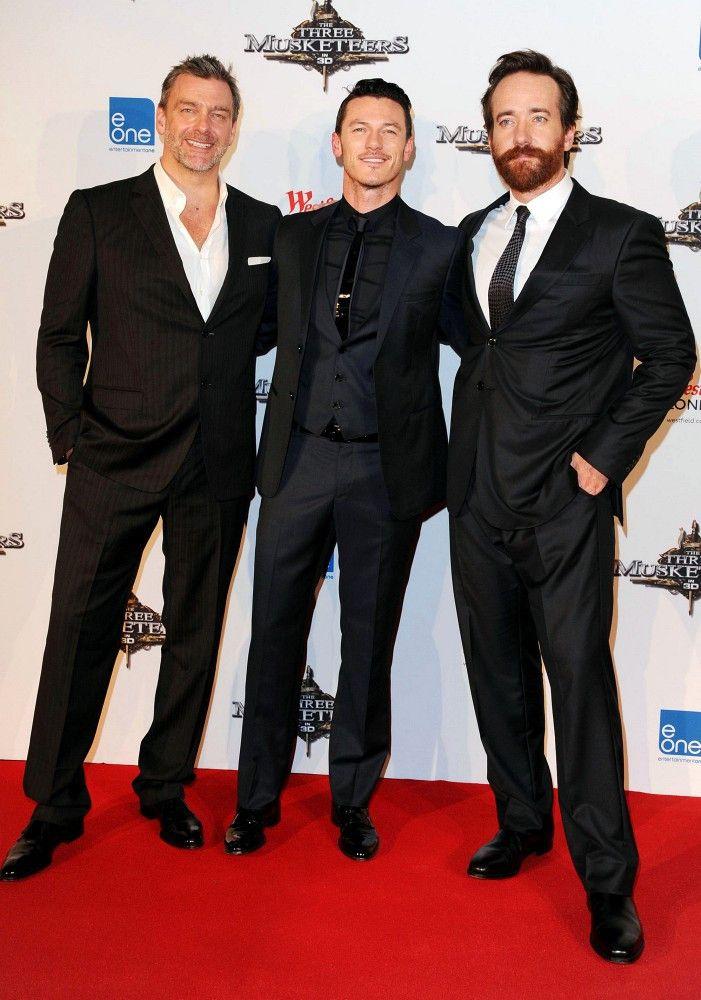 'The Three Musketeers' UK premiere    In This Photo: Matthew Macfadyen, Ray Stevenson, Luke Evans  'The Three Musketeers' premiere held at the Vue Cinema.  (October 4, 2011 - Source: Bauer Griffin)