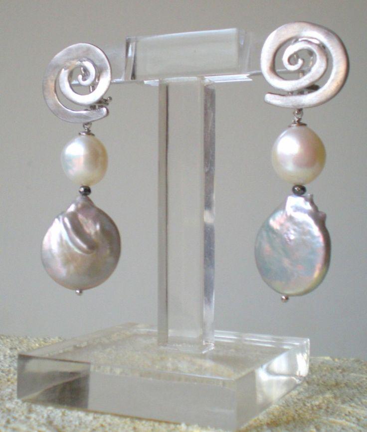 pearl earrings - silver 925/000 www.cinziarusso.it