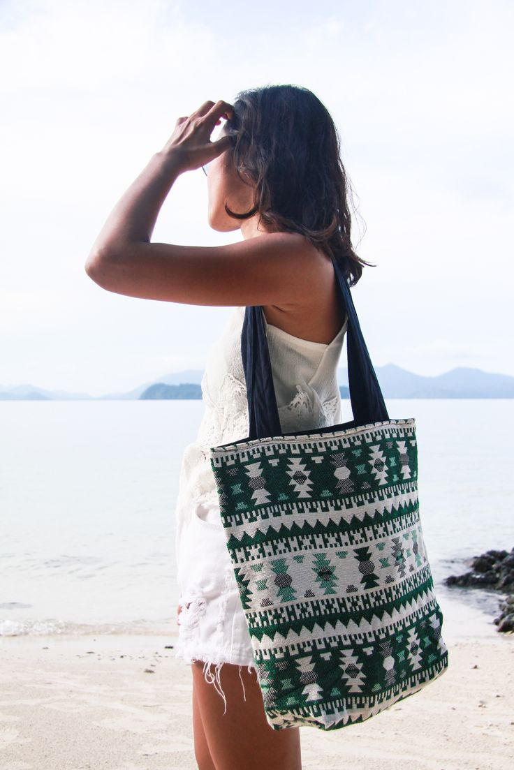 #beach #beachwear #holiday #vacation #outfits #Thailand #Aztec #Tote #Bag #cotton #linen #natural #hobo #chic #handmade #women #fashion #feminine Please visit us : www.etsy.com/shop/Andamundesign