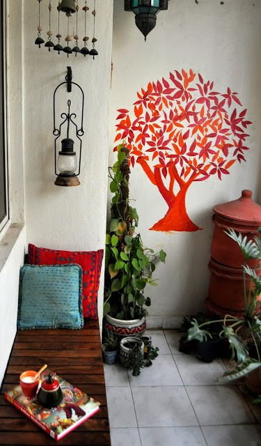 Decor balcony i colour i green decor garden small spaces for Balcony decoration ideas india