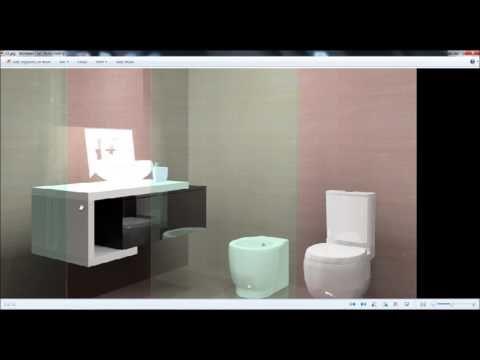 Como desenhar um móvel de casa de banho no KDMAX, Software de desenho de...