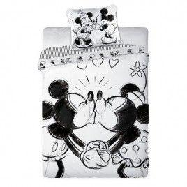 Pościel dla dzieci - Myszka Miki - Bawełna 160x200+70x80