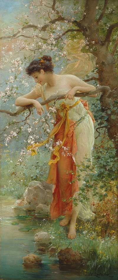 Hans Zatska (Austrian, 1859-1949). Spring Beauty