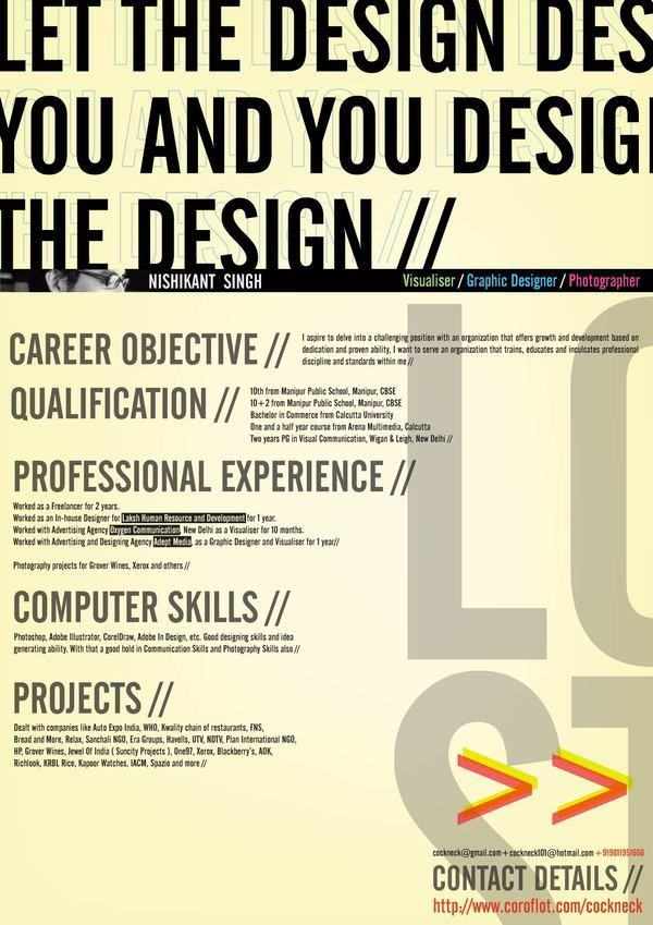 resume inspiration 30 of the best resume designs 24 great examples of non conventional resumes - Resume Curriculum Vitae Example
