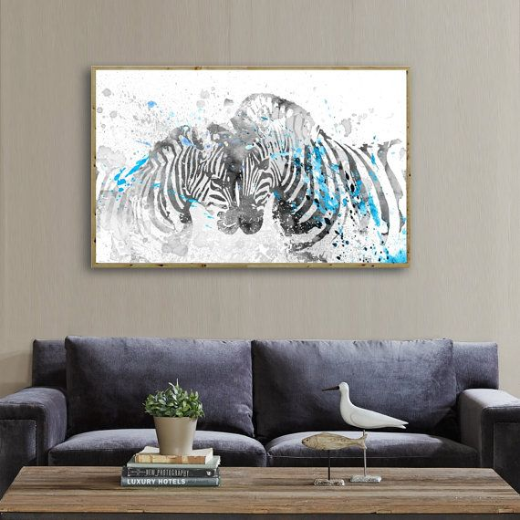 Zebras Room Art Zebras Prints Animal Home Decor Prints by QPrints
