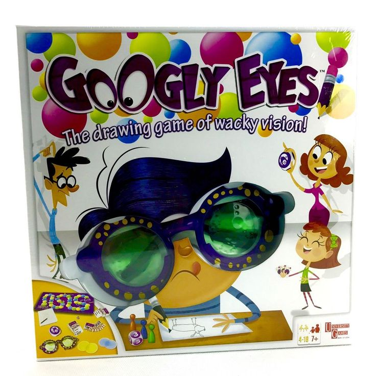 Goggle Eyes Board Game fun hilarious drawing glasses challenged vision newsealed