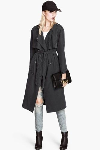 15 Sleek & Stylish Raincoats To Help You Weather The Storm #refinery29  http://www.refinery29.com/52707#slide-5  H&M Trenchcoat, $59.95, available at H&M.