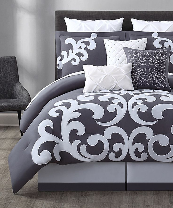 Look at this Gray & White Empress Comforter Set on #zulily today!
