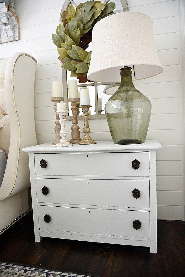 Neutral Master Bedroom Nightstand Makeover With Magnolia