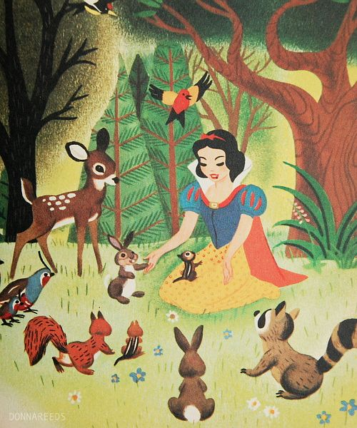 Vintage Disney Snow White Book