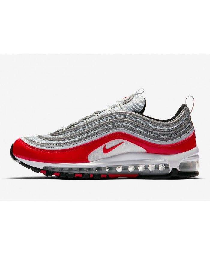 560d06f640a Nike Air Max 97 OG Silver Red White Trainers Sale UK