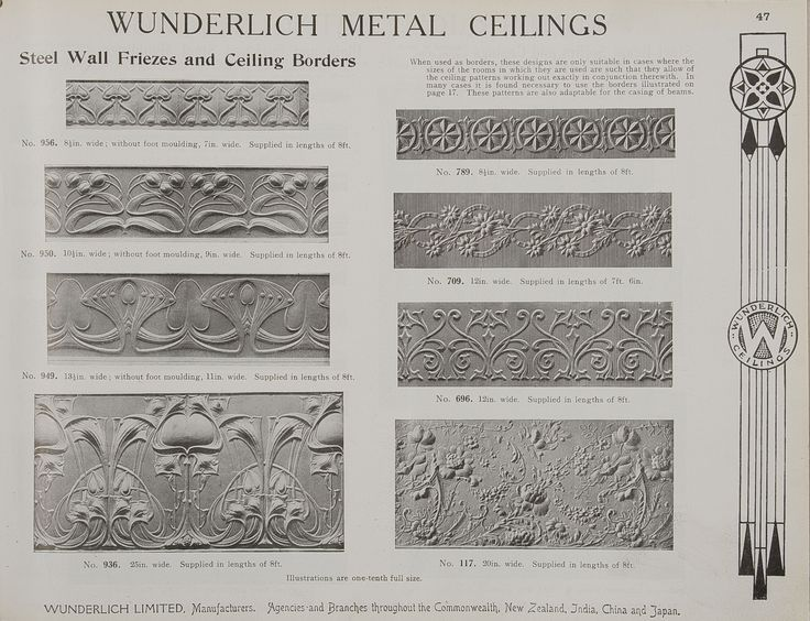 Cool Catalogue page page of uAbridged General Catalogue of Metal Ceilings Wall Linings