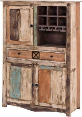 Luxury Highboard Largo cm Breit aus Massivholz im Vintage Look Jetzt bestellen unter https