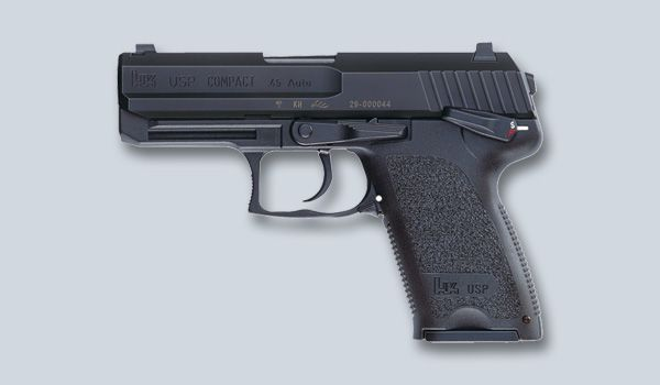 "Heckler & Koch USP Compact - Length: 6.81""; Height: 5.00""; Weight w/mag: 1.47; Capacity: 13"