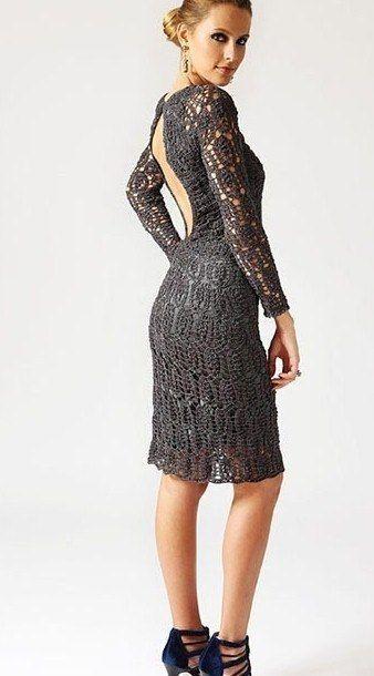 vestido de noche a crochet