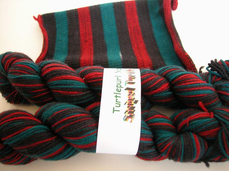 self striping socks by Turtlepurl.