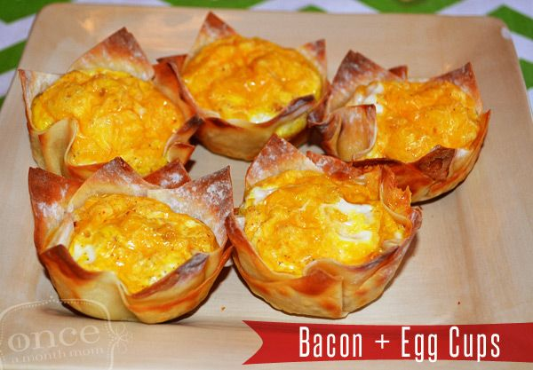 Bacon and Egg Cups - Breakfast, freezer meals, oamc