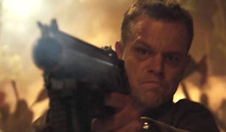 'Jason Bourne' star Matt Damon calls for U.S. to ban guns 'in one fell swoop' (NOW MORE THAN EVER BOYCOTT HOLLYWOOD/NO MORE $$$) Matt Damon stars as Jason Bourne in Universal Pictures' popular spy franchise based on the character. (YouTube, Universal Pictures)