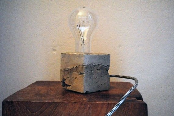 wochenend diy concrete lamp ok cool blog betonlampe. Black Bedroom Furniture Sets. Home Design Ideas