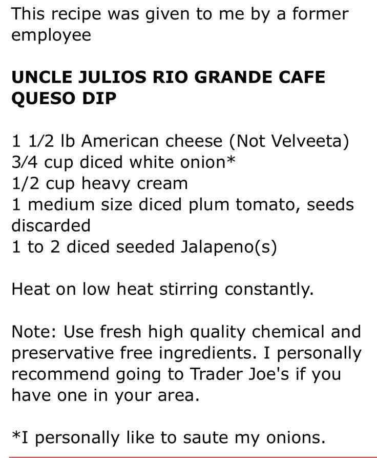 Uncle Julios Queso Dip