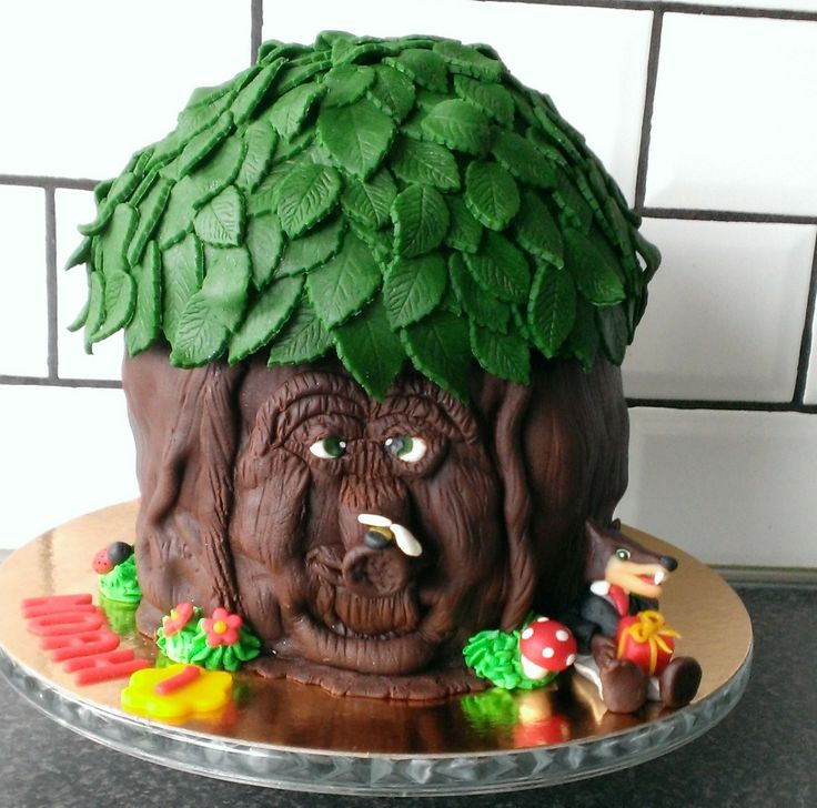 Sprookjesboom met de grote boze wolf taart Jessie's taarten