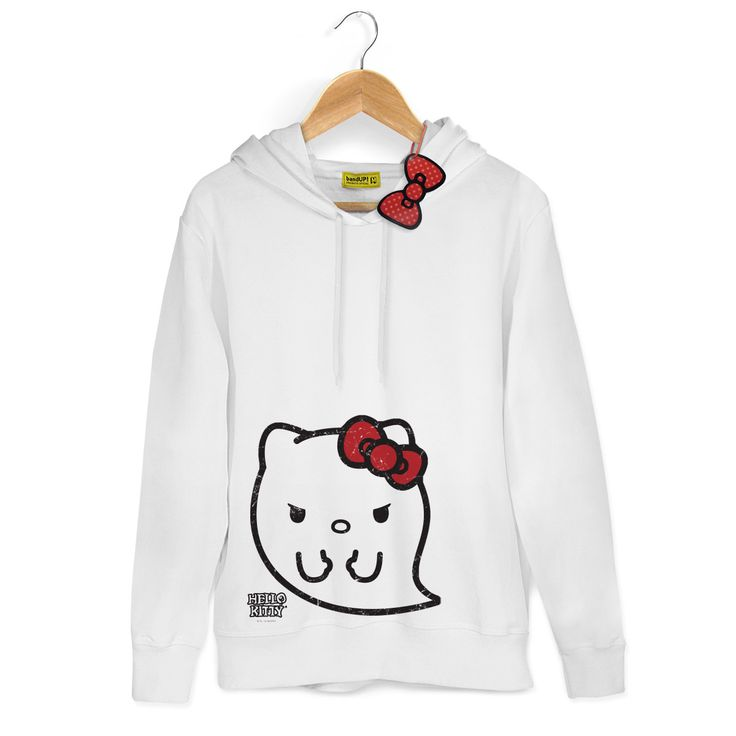 Moletom Branco Hello Kitty Ghost #LojadaHelloKitty #HelloKittyMonster #HelloKittyGhost