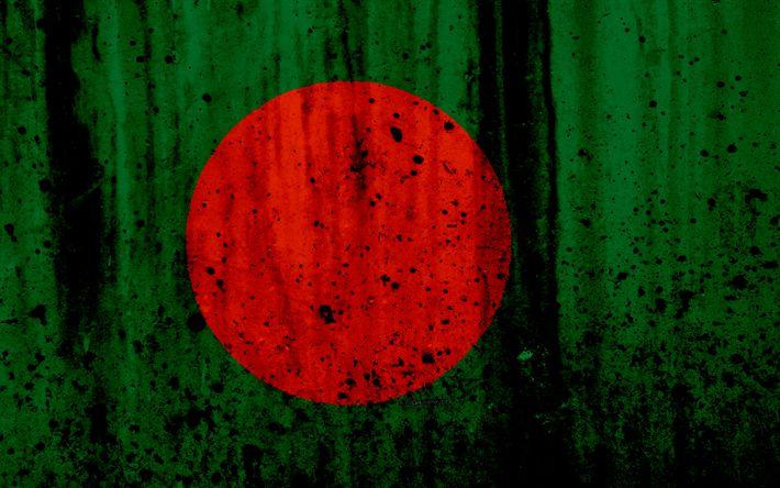 Download wallpapers Bangladesh flag, 4k, grunge, flag of Bangladesh, Asia, Bangladesh, national symbols, Bangladesh national flag