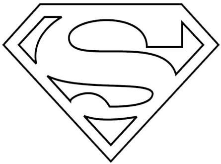 Resultado de imagen para simbolo de superman para imprimir